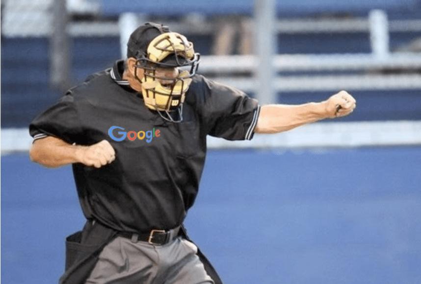 baseball player with Google shirt