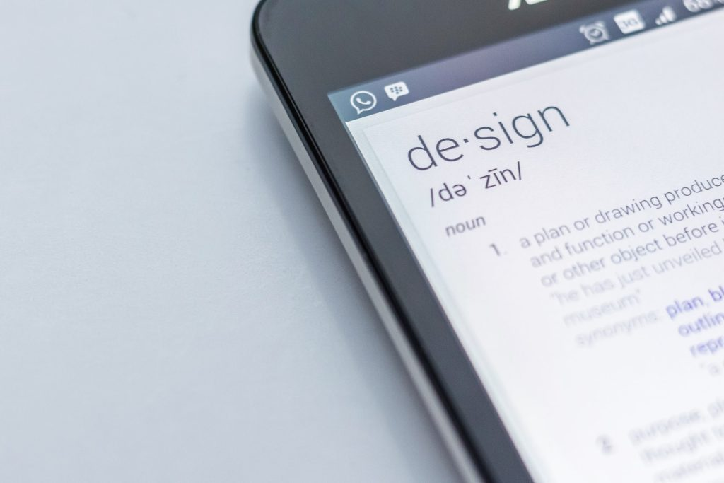cell phone with definition of design